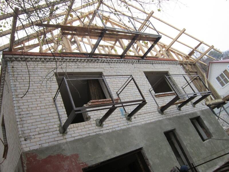 Металлокаркас на балкон.