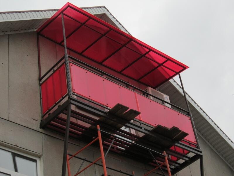 Навесы над балконами своими руками