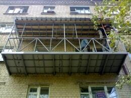 Балконы - сварка каркасов, ремонт